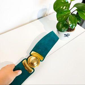 Vintage OMEGA Emerald & Gold Belt